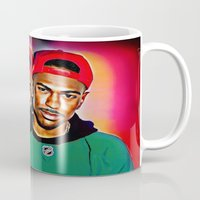 wes anderson Mugs featuring Sean Michael Leonard Anderson by Enna