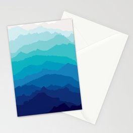 Blue Mist Mountains Stationery Cards