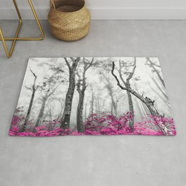 Princess Pink Forest Garden Rug