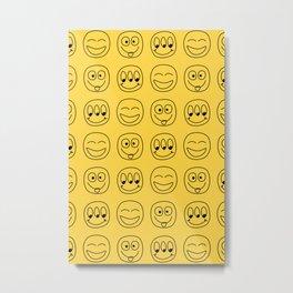 Smile Emoji Metal Print