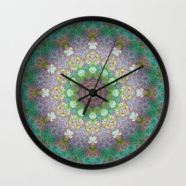 Bee Garden Mandala Wall Clock
