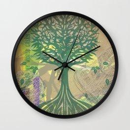 Color My World Green Wall Clock