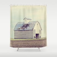 american beauty Shower Curtains featuring American Beauty Vol 15 by Farmhouse Chic