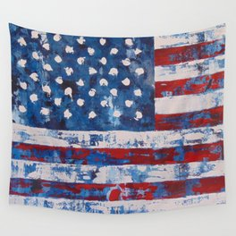 American Flag Distresssed Wall Tapestry