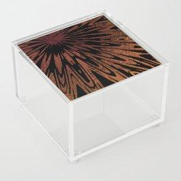 Native Tapestry in Burnt Umber Acrylic Box
