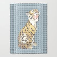 grumpy Canvas Prints featuring Grumpy by Mr. Morris can Meow!