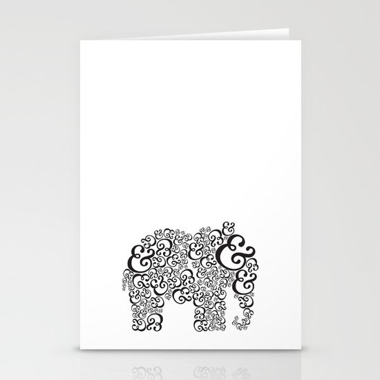 Ampersand Elephant Stationery Cards