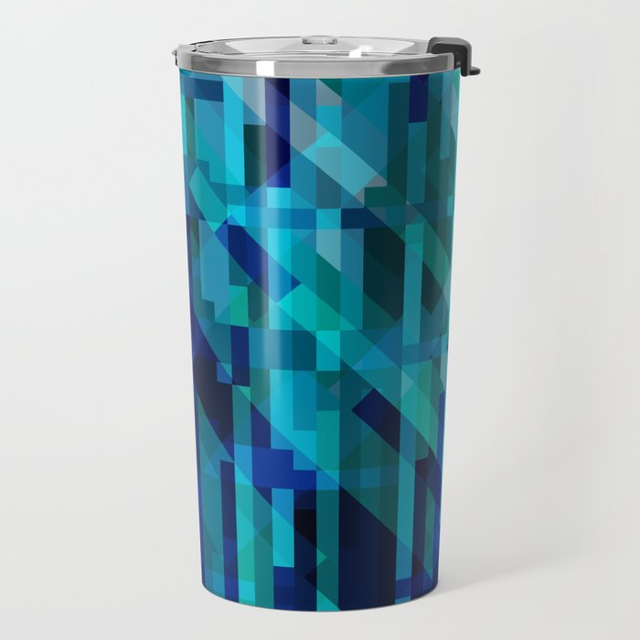 abstract composition in blues Travel Mug
