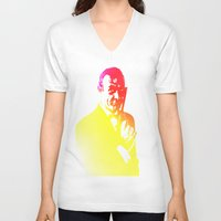 james bond V-neck T-shirts featuring James Bond - Tequila Sunrise by D77 The DigArtisT