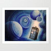 tardis Art Prints featuring TARDIS by Colunga-Art