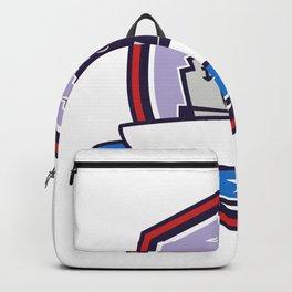 Battleship Stars Stripes Crest Retro Backpack