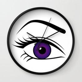Violet Right Eye Wall Clock