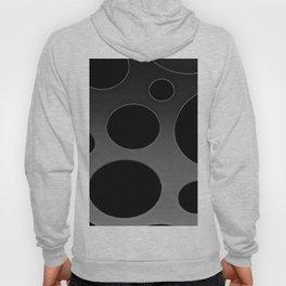 Contemporary Circle Silver and Black Hoody