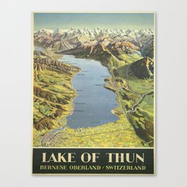 Vintage poster - Lake of Thun Canvas Print