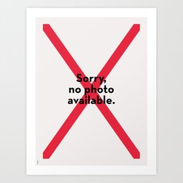 Sorry no photo available Art Print
