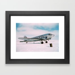 Vintage aviation photograph Alaska Airlines airplane air plane classic pilot flight travel photo Framed Art Print