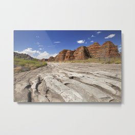 Dry riverbed in Purnululu National Park, Western Australia Metal Print