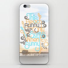 BEACH BUNNY iPhone & iPod Skin