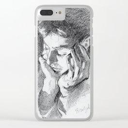 Firelight Portrait Clear iPhone Case