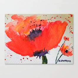 Waltz of the Poppies Canvas Print