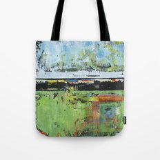 Salvation Green Abstract Contemporary Artwork Painting Tote Bag