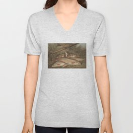 Vintage Painting of Caught Brook Trout (1868) Unisex V-Neck