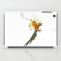 low poly iPad Cases featuring Low poly Parrot by exya