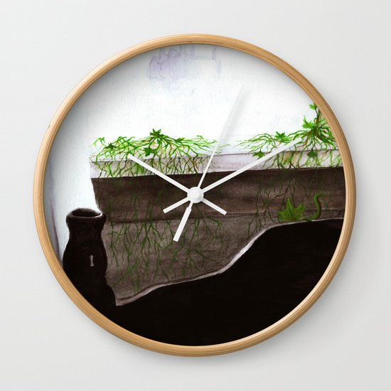 """""""Give Up"""" by Cap Blackard Wall Clock"""