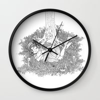 dreamer Wall Clocks featuring Dreamer by KadetKat