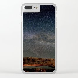 Starry Night Over Mesa Arch Clear iPhone Case