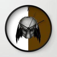 predator Wall Clocks featuring Predator by Oblivion Creative