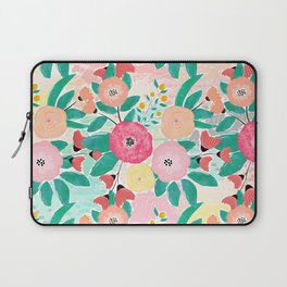 Modern brush paint abstract floral paint Laptop Sleeve
