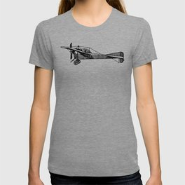 Old Airplane Sideview Detailed Illustration T-shirt