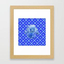 Baby Blue German Iris Blue Pattern Framed Art Print