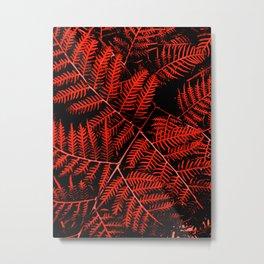 Flaming Bracken Metal Print