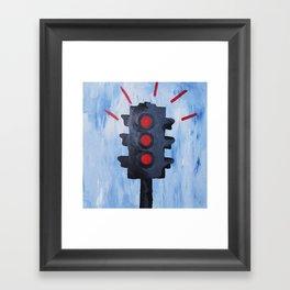 Stop.  Framed Art Print