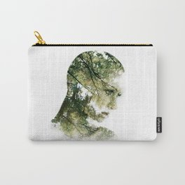 forest silhouette  Carry-All Pouch