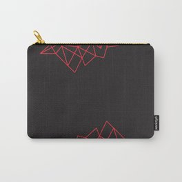 Geometric Pattern X Carry-All Pouch