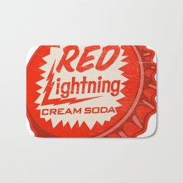 Vintage Red Lightning Cream Soda Bottle Cap Bath Mat