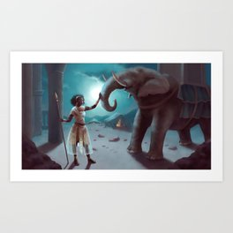 Will you fight for me again ? Art Print