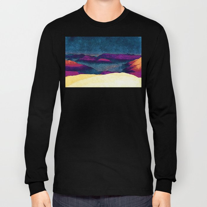 Colorful Mountains Landscape Long Sleeve T-shirt