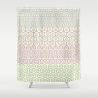 triangles Shower Curtains featuring Triangles by Shelly Bremmer