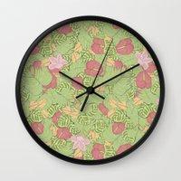 persona Wall Clocks featuring ¿eres normal? by Cecilia Sánchez