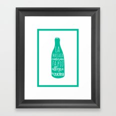 italian kitchen cucina Framed Art Print