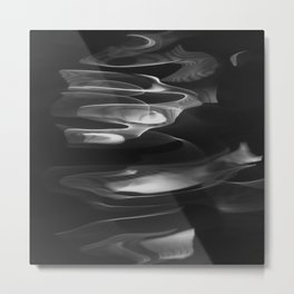Water abstract H2O No.62  black-white Metal Print