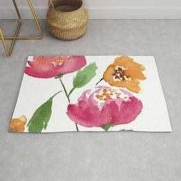 Pink Peony Bouquet Rug