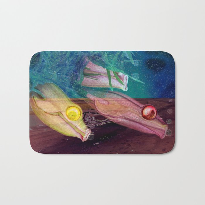 Little fishes float in dreams and nothings ever as it seems Bath Mat