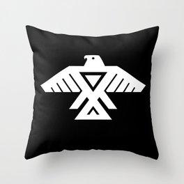 Thunderbird flag Throw Pillow