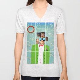 Hockney illustration Unisex V-Neck