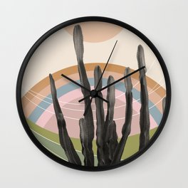 Cactus in the Desert #2 #tropical #wall #art #society6 Wall Clock